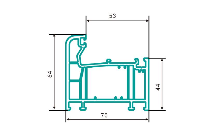 PC70GDK-PVC profiles for doors and windows