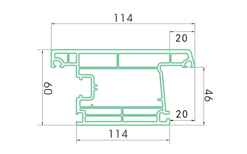 PC60WKSM-PVC profiles for doors and windows