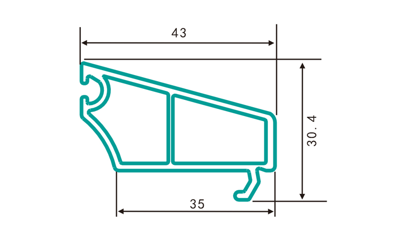 PC70DY(0.313kg/m)-PVC profiles for doors and windows