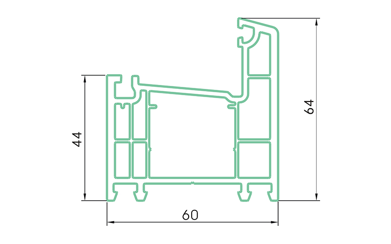 PC60K-PVC profiles for doors and windows