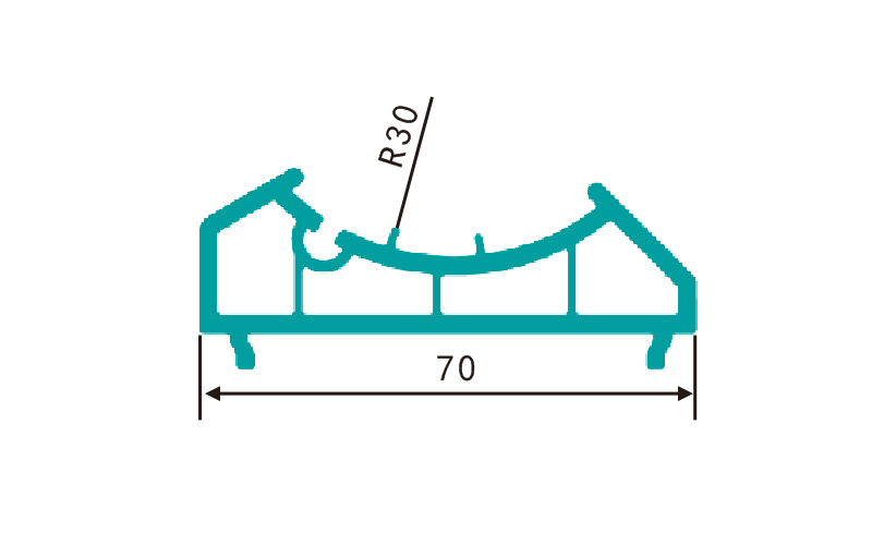 PC70ZJ(0.66kg/m)-PVC profiles for doors and windows