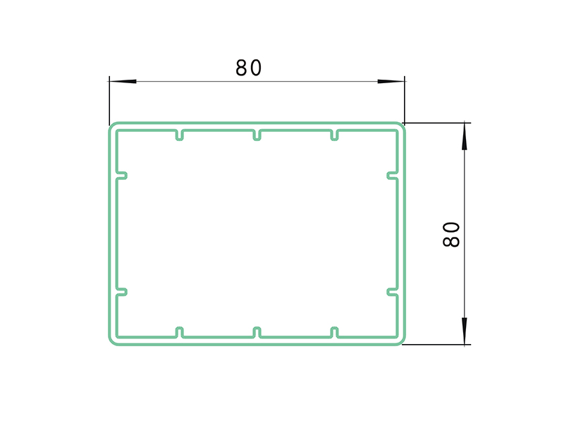 rail LAF-018-PVC Fence Profiles and accessories