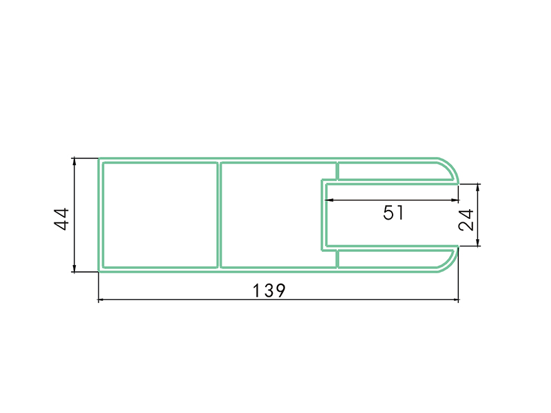 rail LAF-002-PVC Fence Profiles and accessories