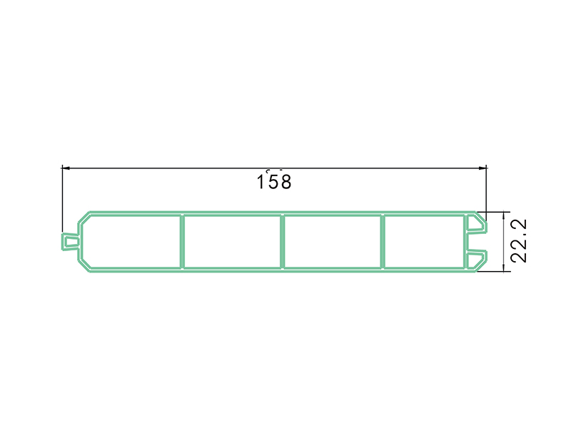 panel LAF-004-PVC Fence Profiles and accessories