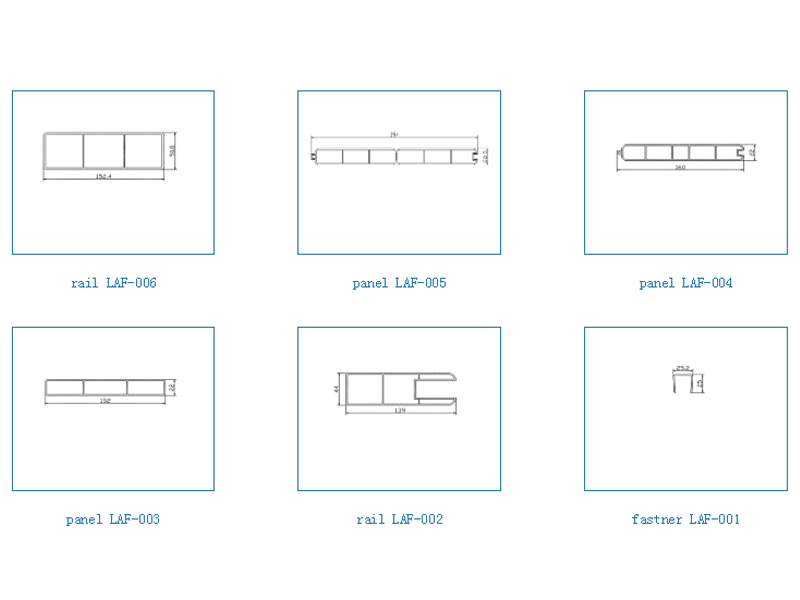 Fence profile-PVC Fence Profiles and accessories