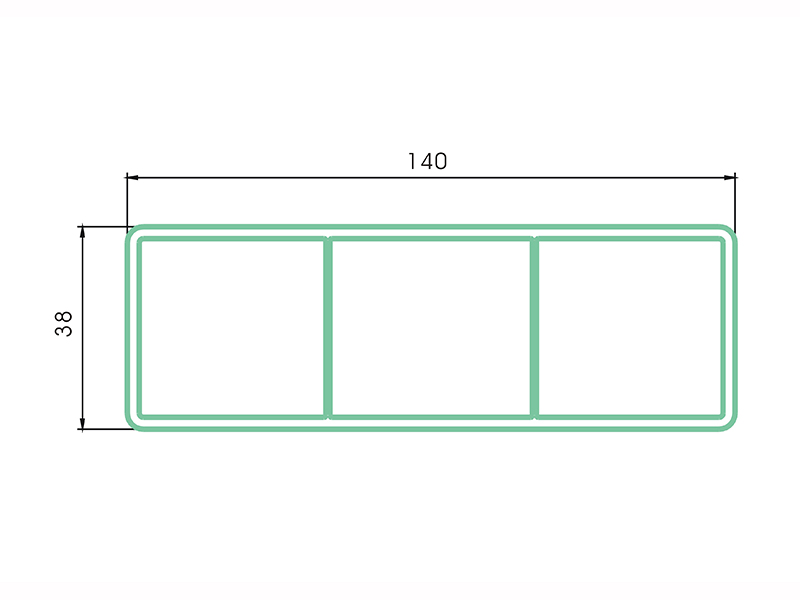 rail LAF-007-PVC Fence Profiles and accessories